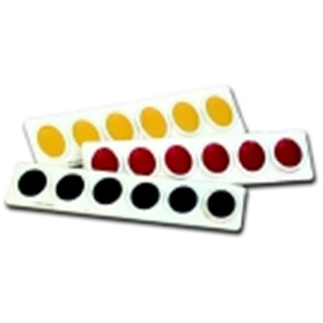 Prang Non-Toxic Washable Semi-Moist Watercolor Paint Refill, Plastic Oval Pan, White, Pack - 12
