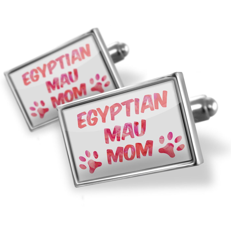 Cufflinks Dog & Cat Mom Egyptian Mau - NEONBLOND