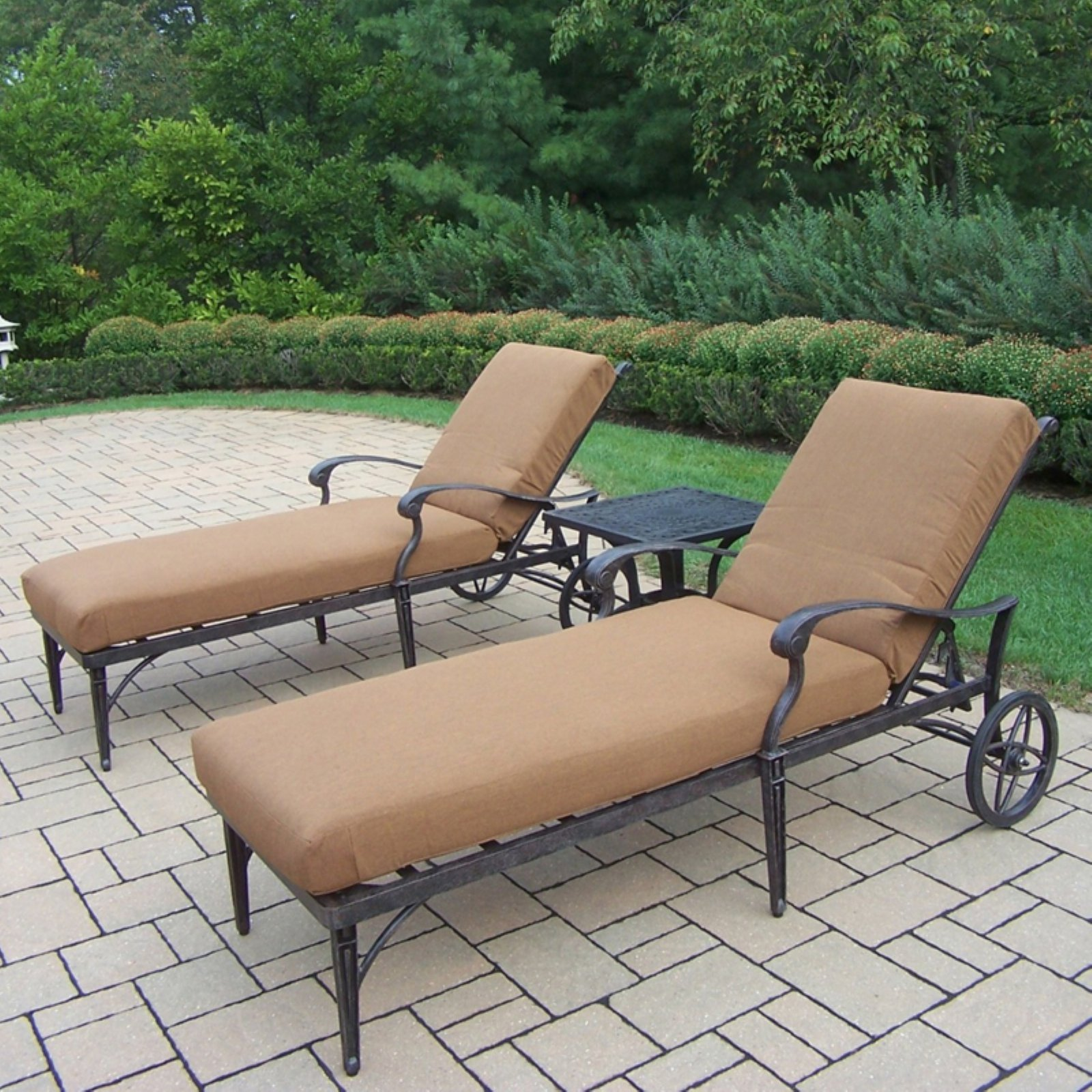 Oakland Living Belmont 3 Piece Chaise Lounge Set