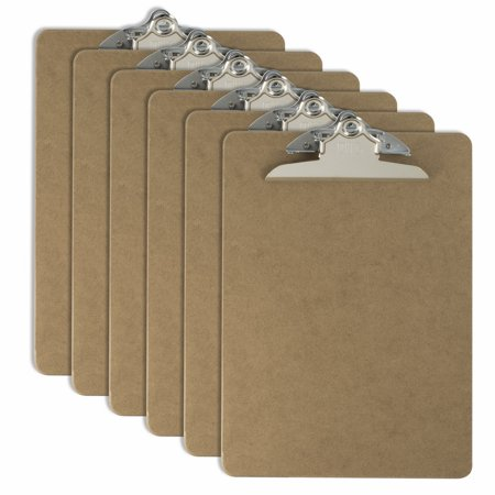 Officemate OIC Wood Clipboard, Letter Size, Recycled, 6/Pack (83706) - Clap Boards