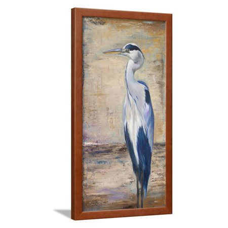 Heron Bay Wall - Blue Heron II Bird Animal Art Framed Print Wall Art By Patricia Pinto