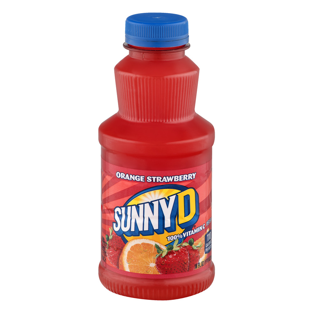 Sunny D Orange Strawberry Citrus Punch, 16 fl oz