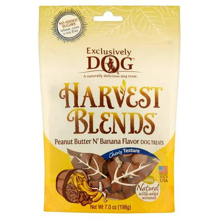 Exclusively Dog Harvest Blends Peanut Butter N' Banana Flavor Dog Treats, 7.0 (Peanut Butter And Banana Dog Treats Recipe)