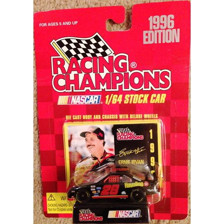 1996 Nascar 1/64 Stock Car #28 Ernie Irvan Havoline Car with Stand and Trading Card, 1996 Edition By Racing Champions - Nascar Halloween Cars