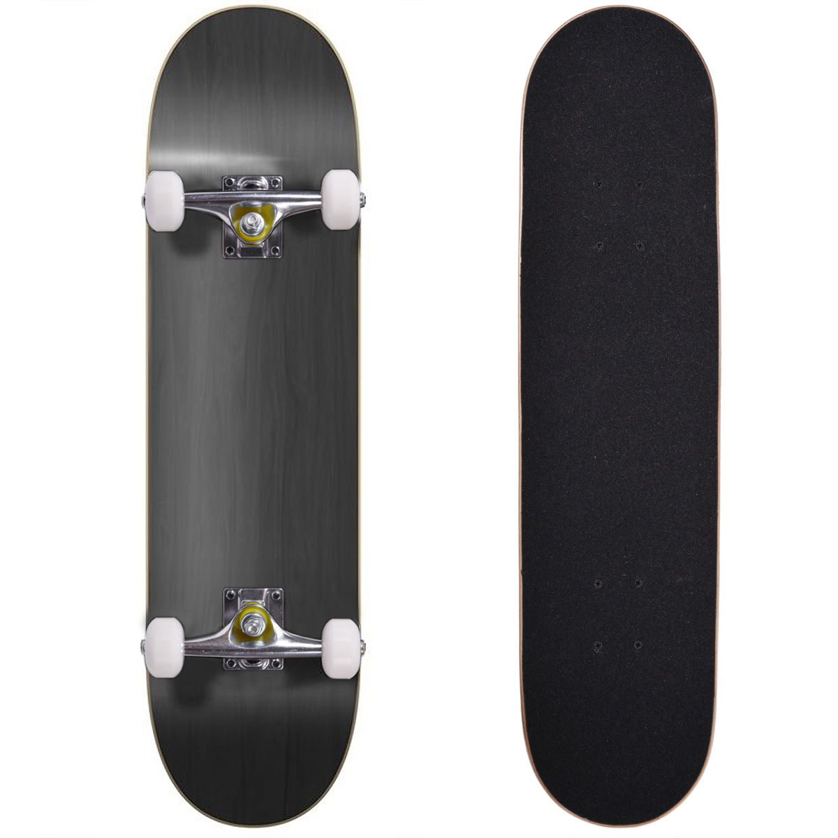 "Blank Complete Skateboard 7.75"" Skateboards Stained Black , Ready to ride Black by Jaxpety"