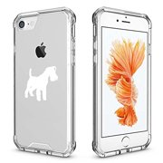 For Apple iPhone Clear Shockproof Bumper Case Hard Cover Miniature Schnauzer (White For iPhone 6 Plus / 6s Plus)