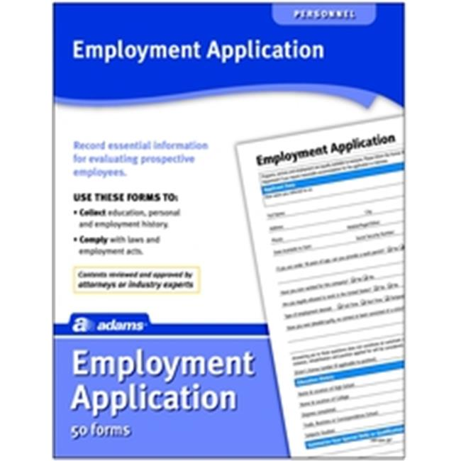 Adams Business Forms Adams HR104 Application for Employment