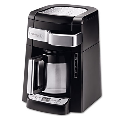 10-Cup Frontal Access Coffee Maker, Black, Sold as 1 Each