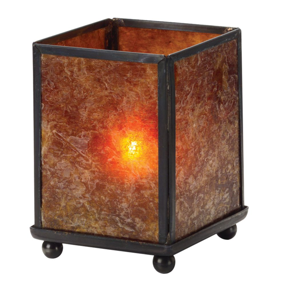 "Hollowick 1200A Mica Mini Panel 3.88"" Table Lamp"