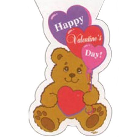 Valentine's Day 'Bear with Heart' Cello Favor Bags w/ Twist Ties (20ct)](Valentines Day Favors)