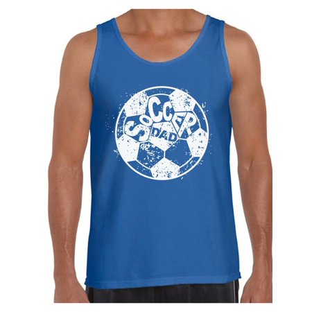 Awkward Styles Men's Soccer Dad Ball Graphic Tank Tops White Vintage Father`s Day Best Soccer (Top 10 Best Soccer Players In The World)