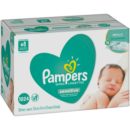 Pampers® Sensitive™ Baby Wipes 16-64 ct Packs (Pampers Sensitive Wipes 448 Ct)
