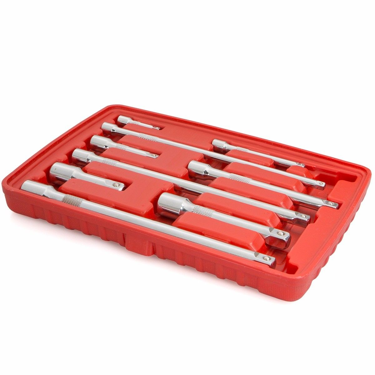 Ratchet Sockets Wrenches Wobble Extension Bar Set, 9PC