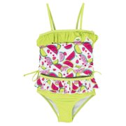 Pink Platinum Little Girls' Watermelon Rashguard Two Piece Swimsuit Set