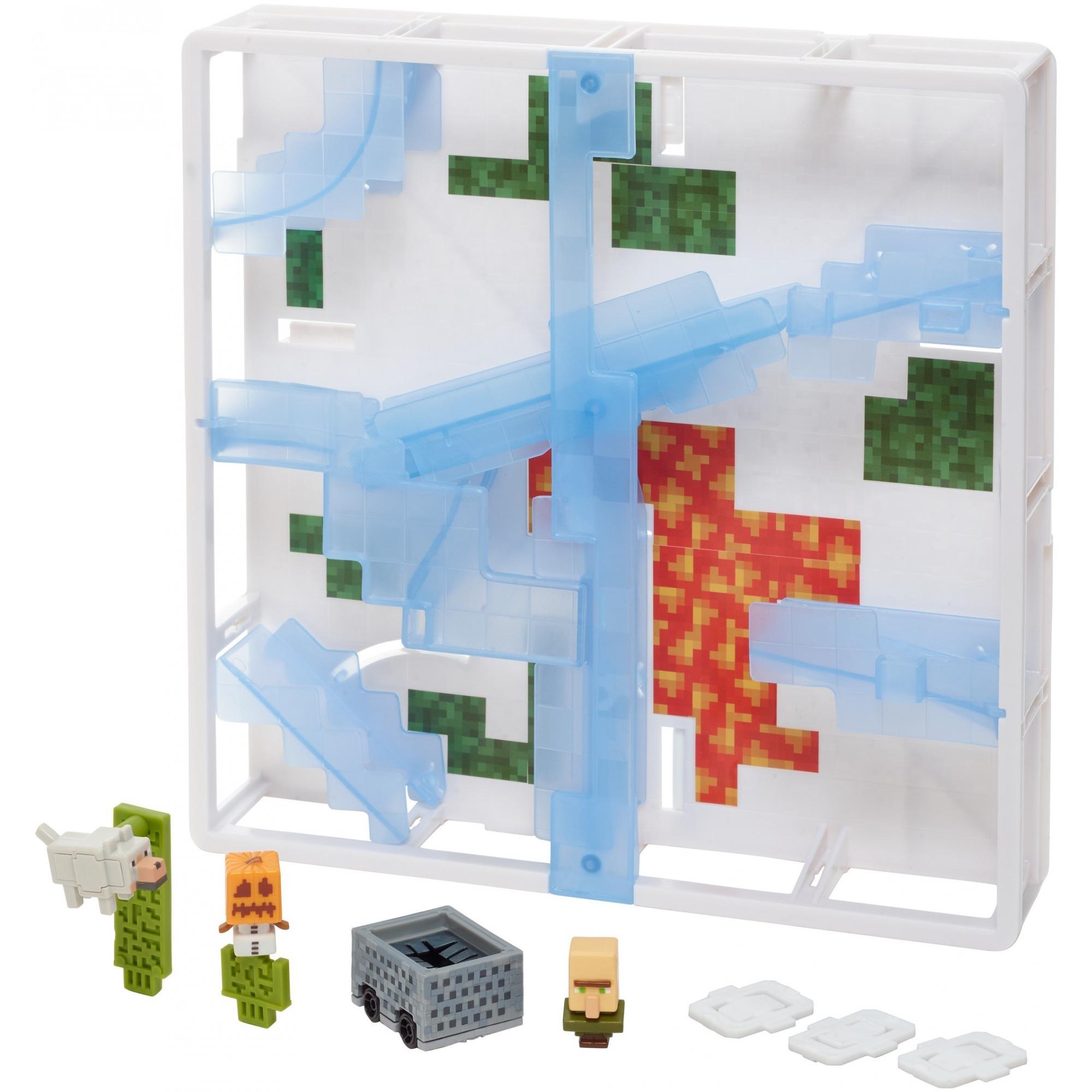 Hot Wheels Minecraft Track Blocks Glacier Slide by Mattel