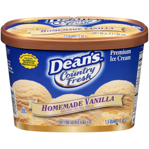 Dean's Country Fresh Homemade Vanilla Ice Cream, 1.5 qt