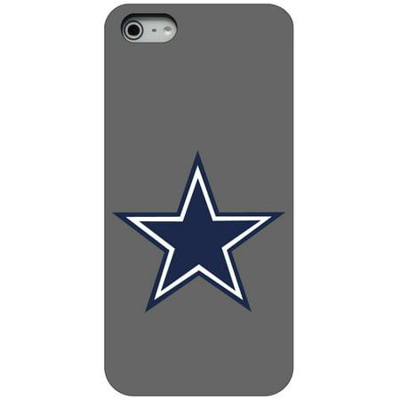 - CUSTOM Black Hard Plastic Snap-On Case for Apple iPhone 5 / 5S / SE - Dallas Star Grey Navy