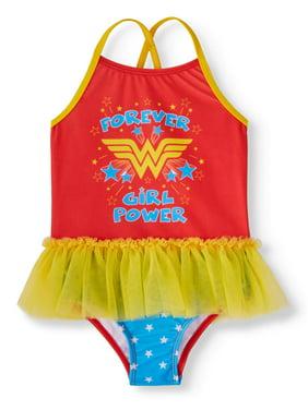51f0725b24b81 Product Image Toddler Girls' Wonder Woman Tutu One Piece Swimsuit