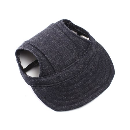 Pet Dog Oxford Fabric Hat Sports Baseball Cap with Ear Holes for Small Dogs - Size S (Blackish)