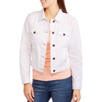 Faded Glory Women's Classic Denim Jacket (Active White)