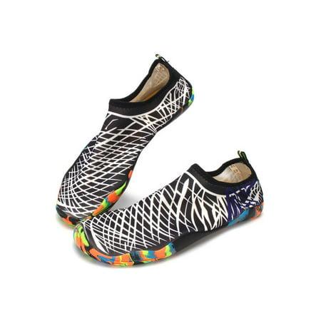 a068c791e5f9 Women Men s Water Shoes Slip On Aqua Socks flexible Pool Beach Swim Surf  Yoga - Walmart.com