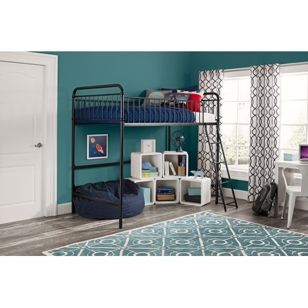 Your Zone Twin Wood Loft bed, Multiple Colors