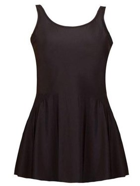 Women's Plus-Size Swimdress No Fuss, No Frills - Basic Black