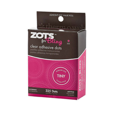 Zots Adhesive Dots Bling .125In Diam .015 Thick 325Ct Roll