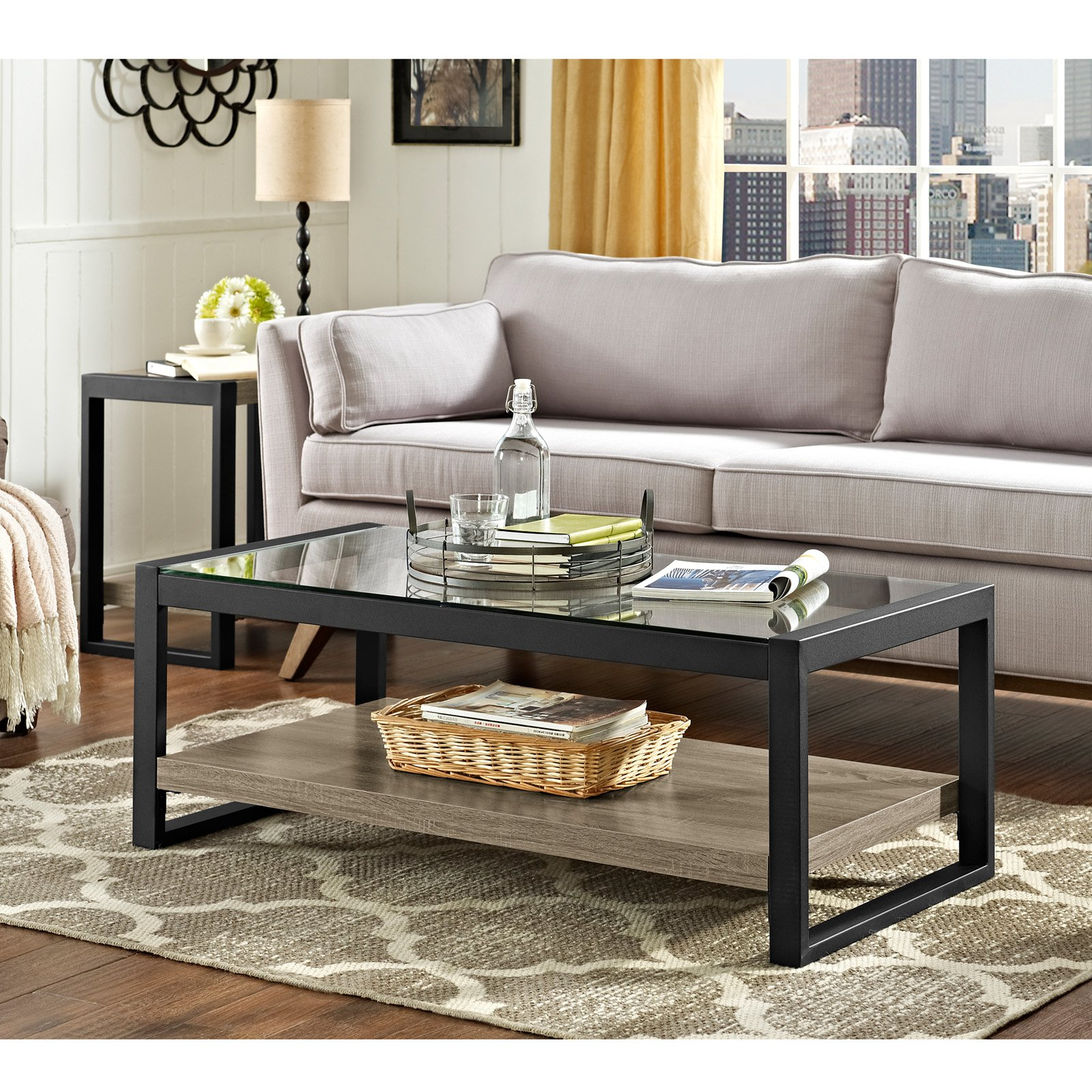 Walker Edison Urban Blend Coffee Table Walmart