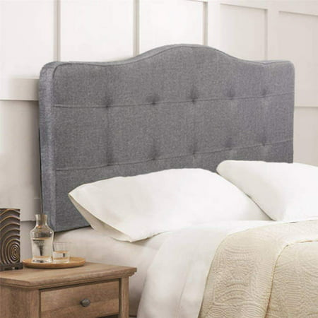 Headboard fabric upholstered queen size tufted modern head board with linen heavy duty button In