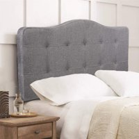 e9615211dcae Product Image Headboard fabric upholstered queen size tufted modern head  board with linen heavy duty button In Gray