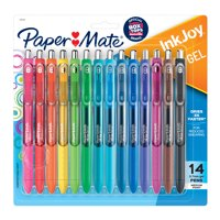 Paper Mate InkJoy Gel Pens, Medium Point, Assorted Colors, 14 Count