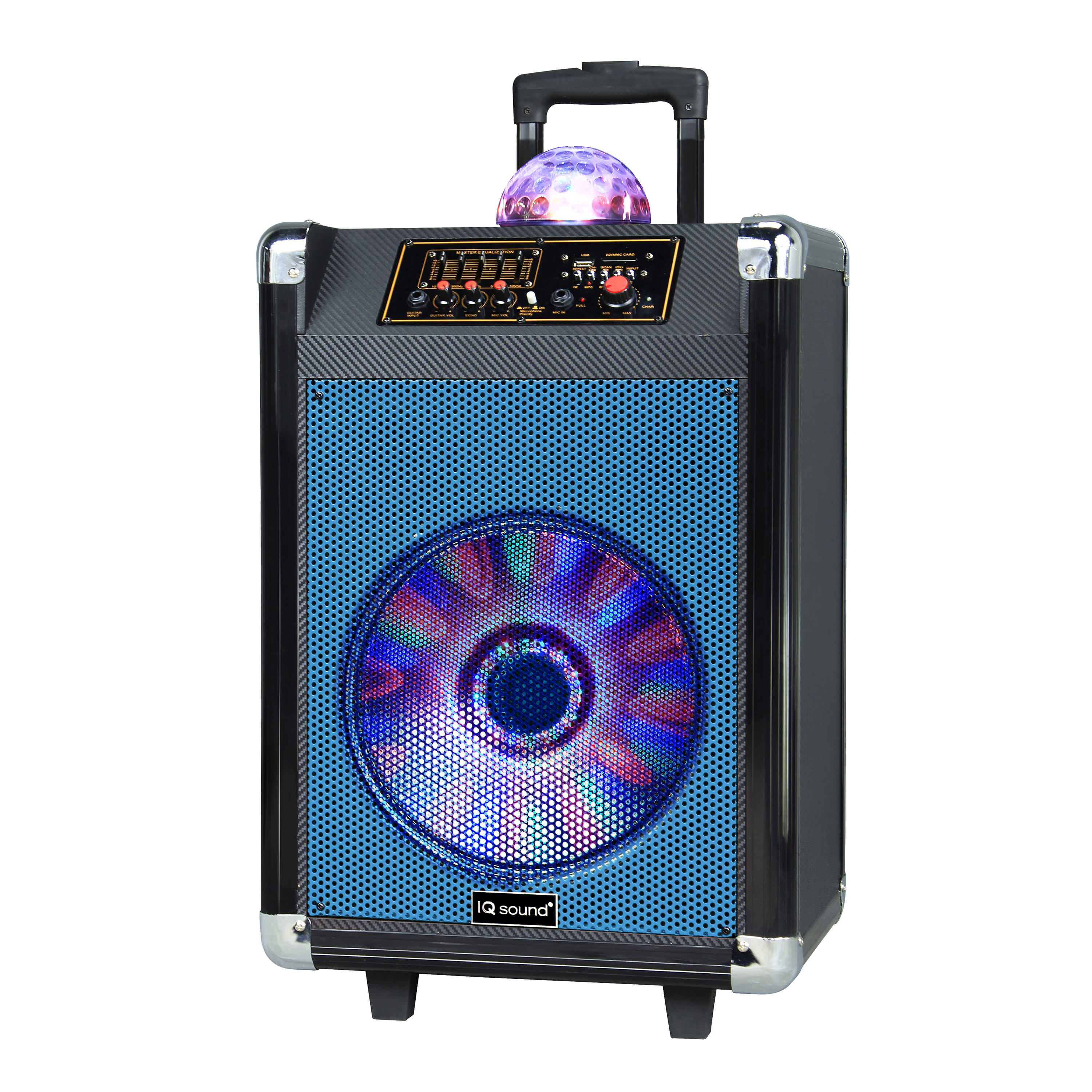 "12"" Portable Bluetooth DJ Speaker with Disco Ball"