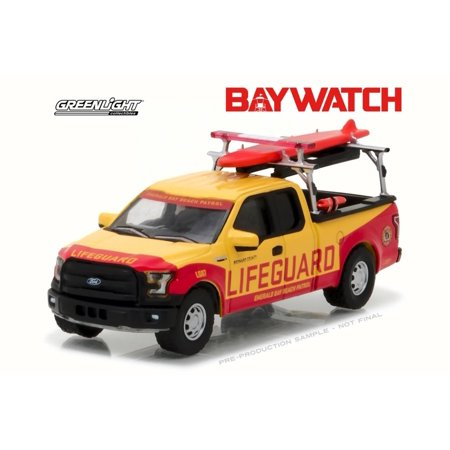 2016 Ford F 150 Pick Up Truck Baywatch Yellow W Red Detail