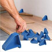 Flooring Spacers,Laminate Wood Flooring Tools(12 Pack),Compatible w/Vinyl Plank, Hardwood & Floating Floor Installation etc,Hardwood Flooring w/1/4 Gap,Special Triangle Stay in Place,Blue