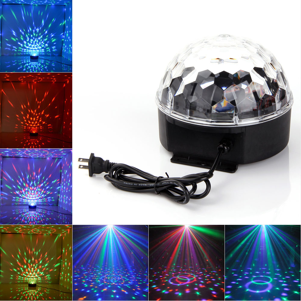 ANNT DJ Club Bar Disco Party Crystal LED RGB Magic Ball Stage Effect Light Lighting Auto Voice Activated by