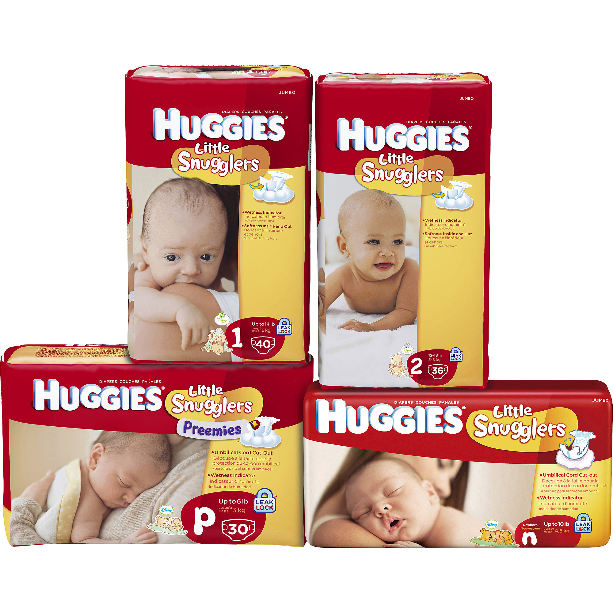 Huggies Little Snugglers Newborn Disney Diapers - 36 CT