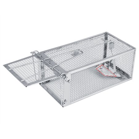 Dilwe 26.2*14*11.4cm Rat Trap Cage Small Live Animal Pest Rodent Mouse Control Bait Catch, Mouse Trap Cage, Rat Trap Cage