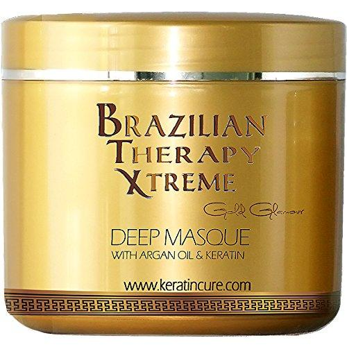 brazilian therapy xtreme deep hair reparation masque pina colada with argan oil - shea butter 1000 g / 32 oz conditioning moisturizing hair treatment