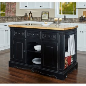 Design Element Group Medley 54 Kitchen Island With Slide Out Table In White Walmart Com Walmart Com