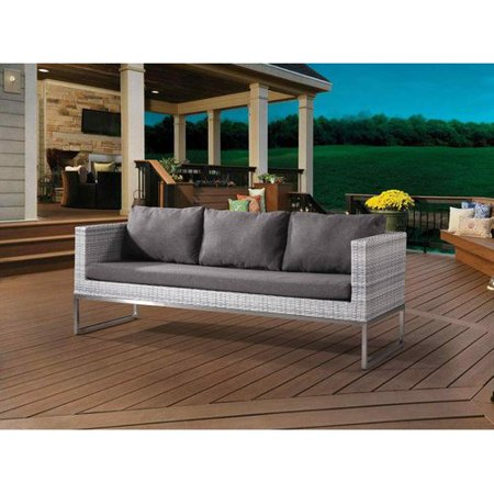 Wrought Studio Goncalves Patio Sofa with Cushions ()