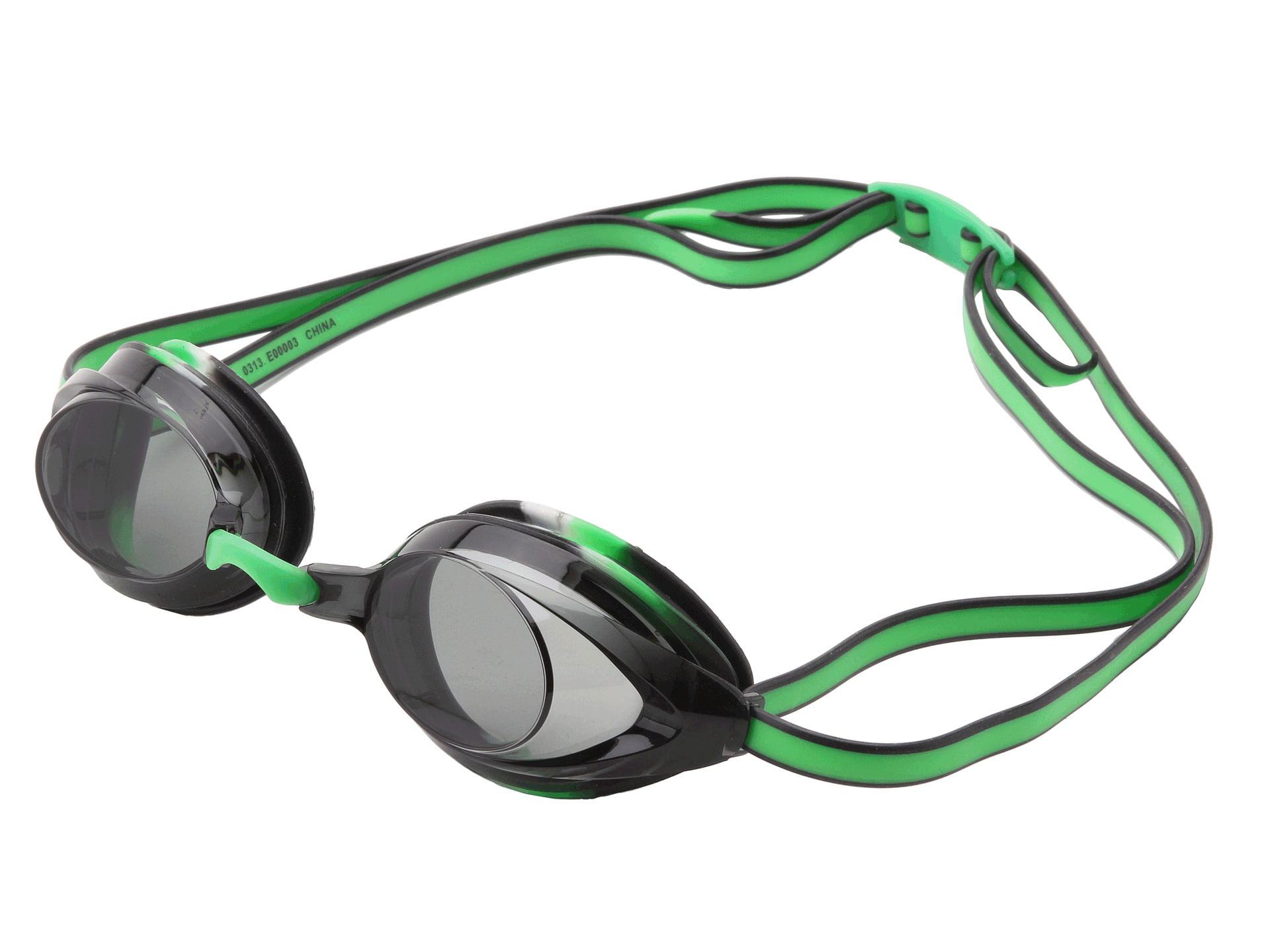 Speedo Jr. Vanquisher 2.0 Anti-Fog Swim Swimming Competition Goggle, Black Green by Speedo