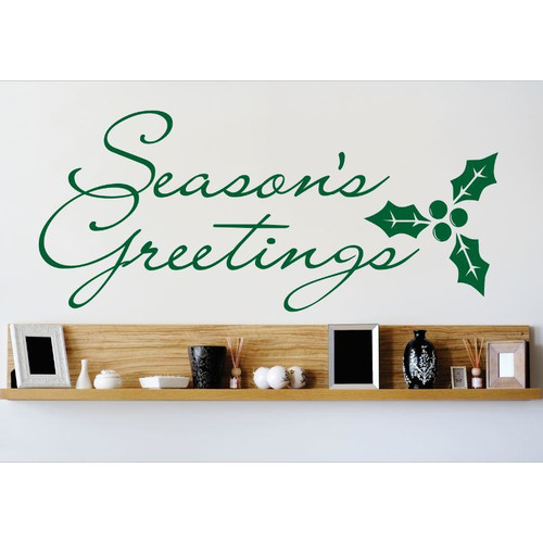 Design With Vinyl Season's Greetings Wall Decal