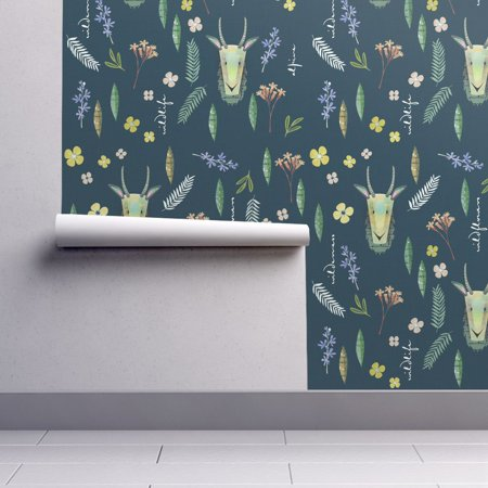 Wallpaper Roll Goat Wildflower Flower Alpine Forest Nature 24in x 27ft