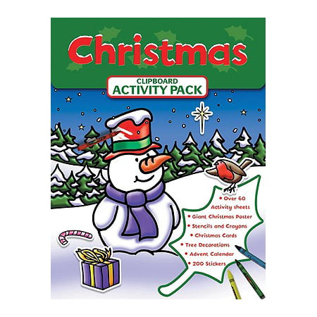 Clip Board Activity Kit Christmas Walmart Com