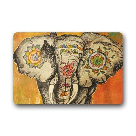 WinHome Elephant Doormat Floor Mats Rugs Outdoors/Indoor Doormat Size 23.6x15.7 inches