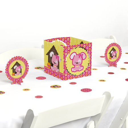 Girl Puppy Dog - Party Centerpiece & Table Decoration Kit](Puppy Dog Birthday Decorations)