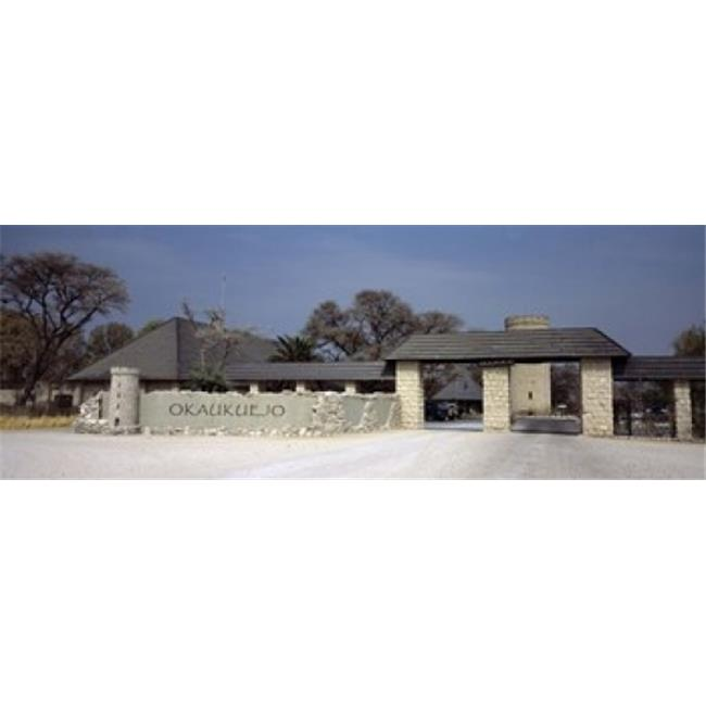 Panoramic Images PPI125607L Entrance of a rest camp  Okaukuejo  Etosha National Park  Kunene Region  Namibia Poster Print by Panoramic Images - 36 x 12 - image 1 de 1