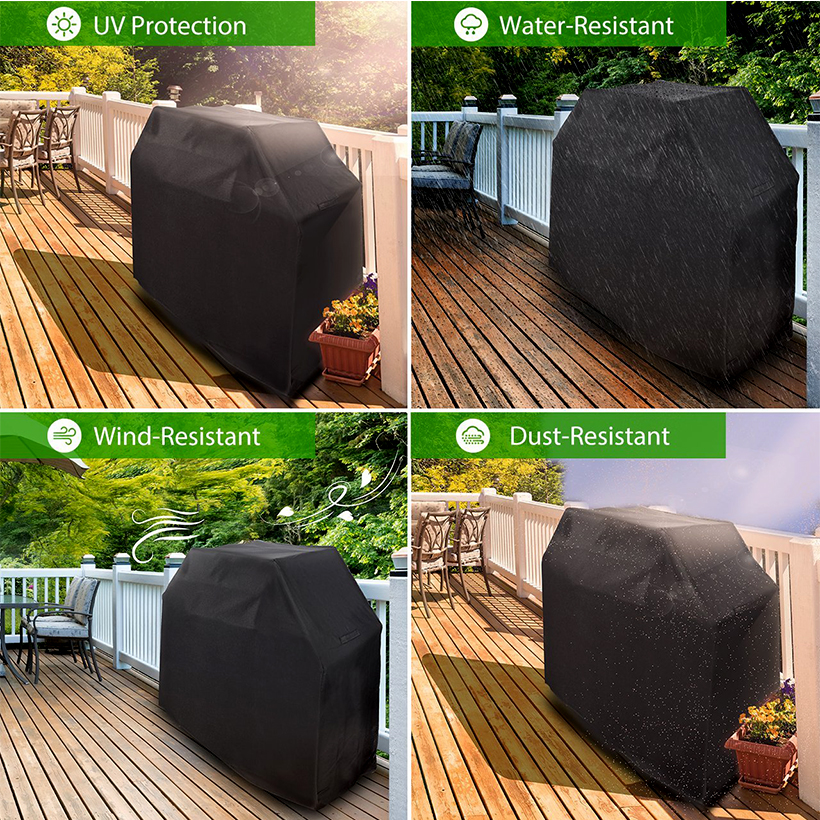 Grill Barbecue Grill Cover 58inch Waterproof Heavy Duty Oxford Cloth,Black - SortWise™ - image 1 of 5