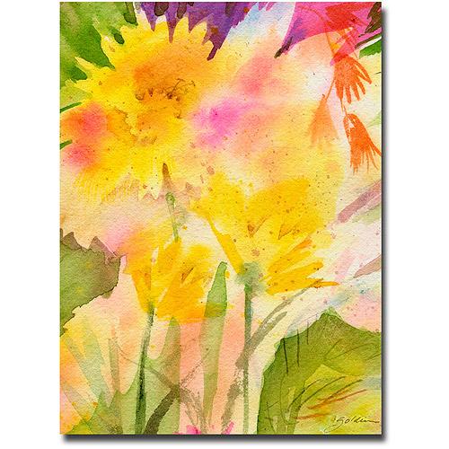 "Trademark Art ""Springtime Floral"" Canvas Wall Art by Shelia Golden"